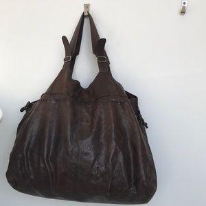 Big brown tote bag
